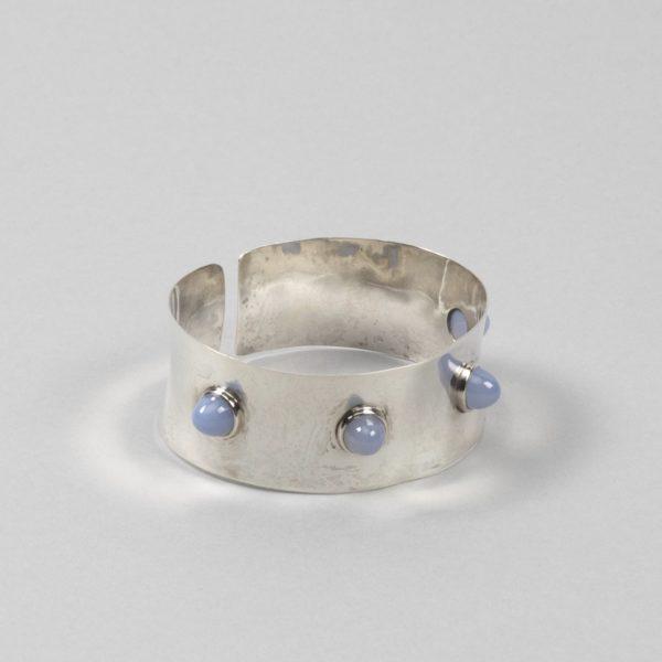 UC08_40 Silver Blue Tourmaline Cuff Band – Ado Chale – Unforget -1