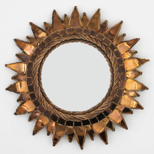 B01_3 Miroir Soleil à pointe Talosel noir – mordoré – Line Vautrin – Unforget_B01_3–3