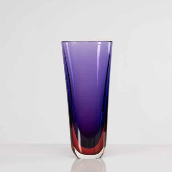 Sommerso vase blu rubino Flavio Poli