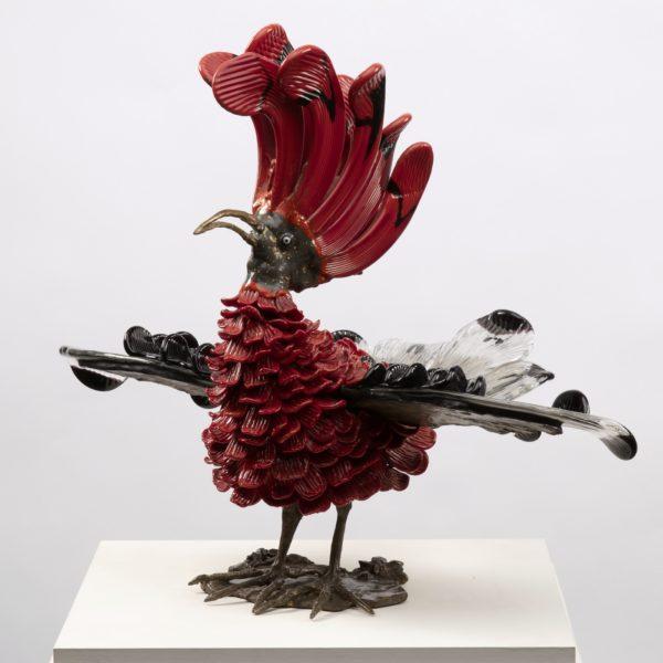 Upupa Murano glass sculpture Toni Zuccheri Venini