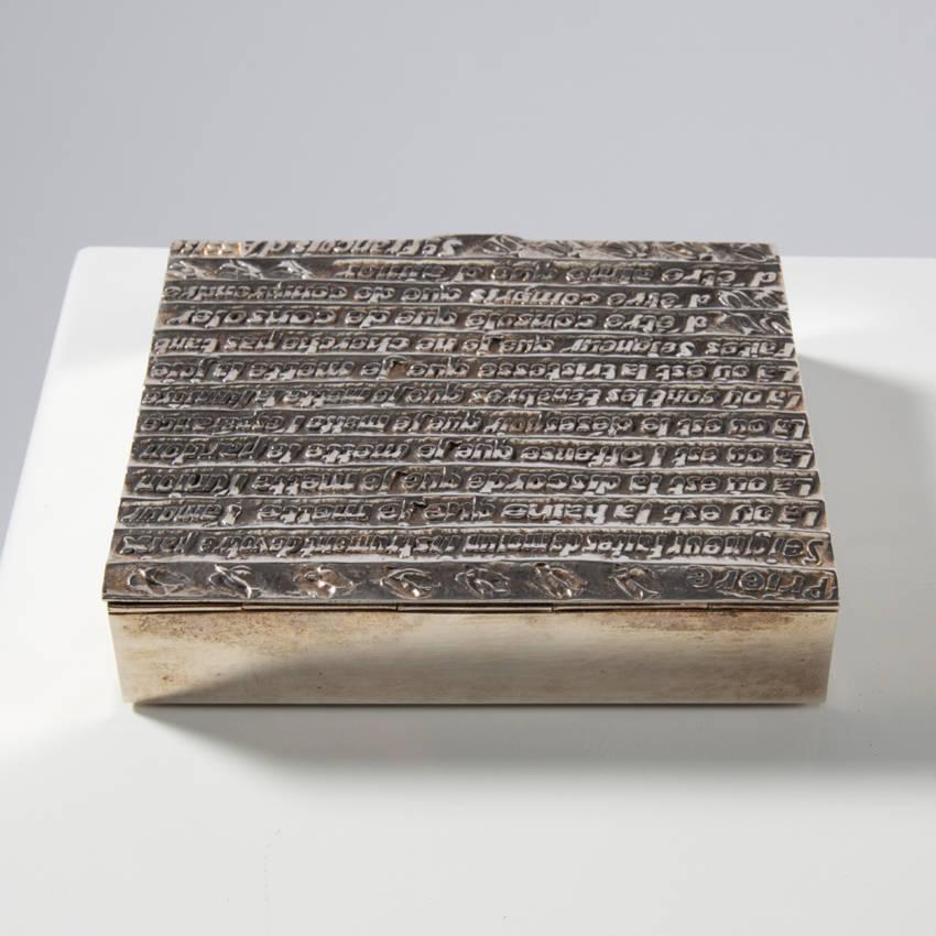 """Silver Box """"La prière de Saint François"""" by Line Vautrin"""