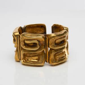 "Silvered bronze bracelet ""Icare"", Line Vautrin (France) - img01"