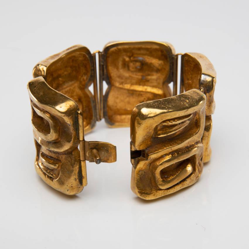 Bracelet bonze doré Icare par Line Vautrin