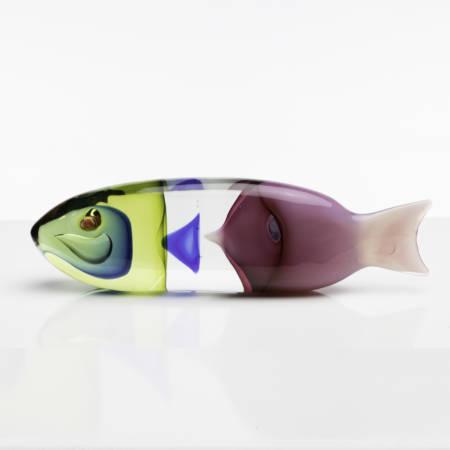 UD12_80 A fish in a fish, blown glass sculpture, Antonio da Ros, Cenedese Murano (Italy) - 0019