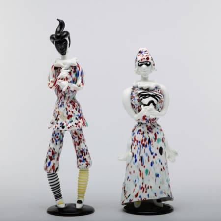 Pair of figurines Arlecchino and Arlecchina by Fulvio Bianconi-img03