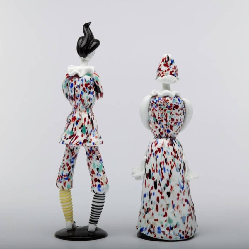 Pair of figurines Arlecchino and Arlecchina by Fulvio Bianconi-img06
