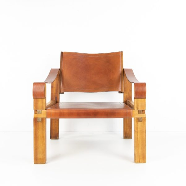 Leather Armchair by Pierre Chapo - img05