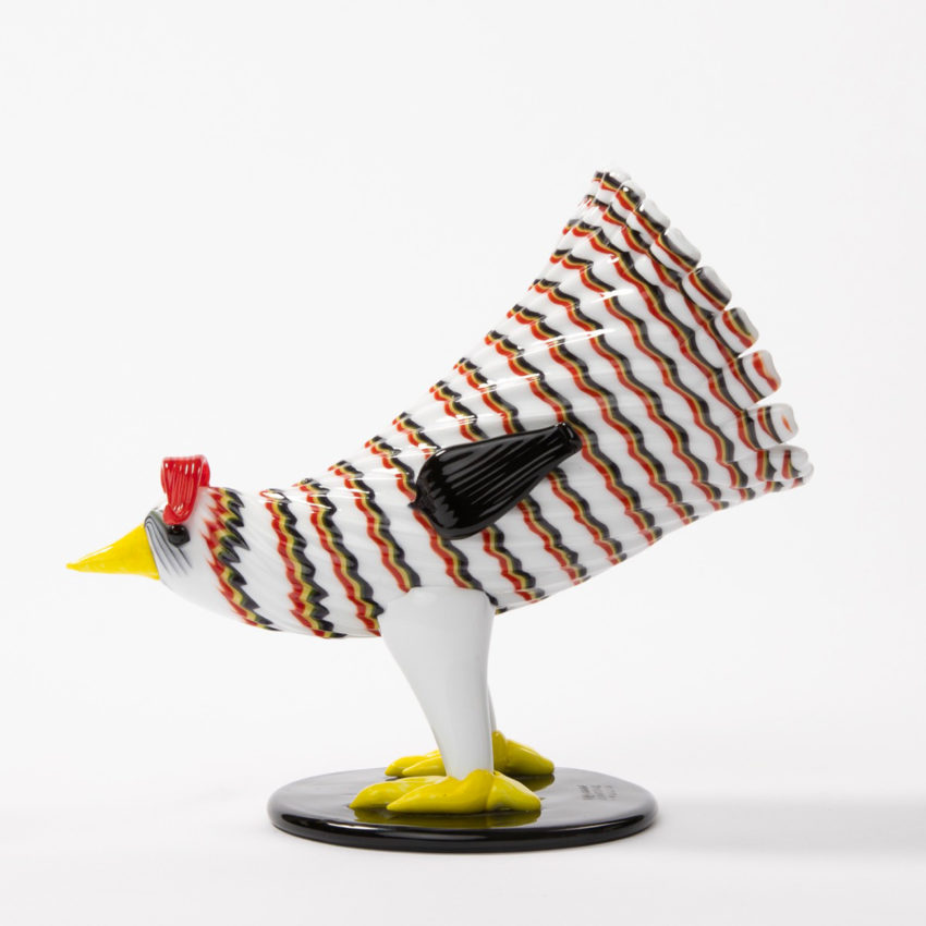 Matching pair of a rooster and hen by Fulvio Bianconi - img19