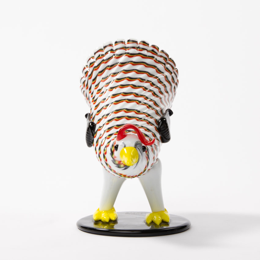 Matching pair of a rooster and hen by Fulvio Bianconi - img18
