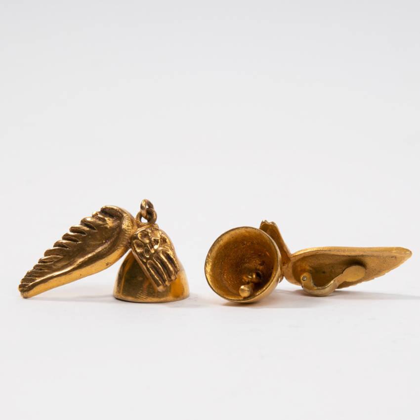 Les cloches ailées earrings par Line Vautrin Img013