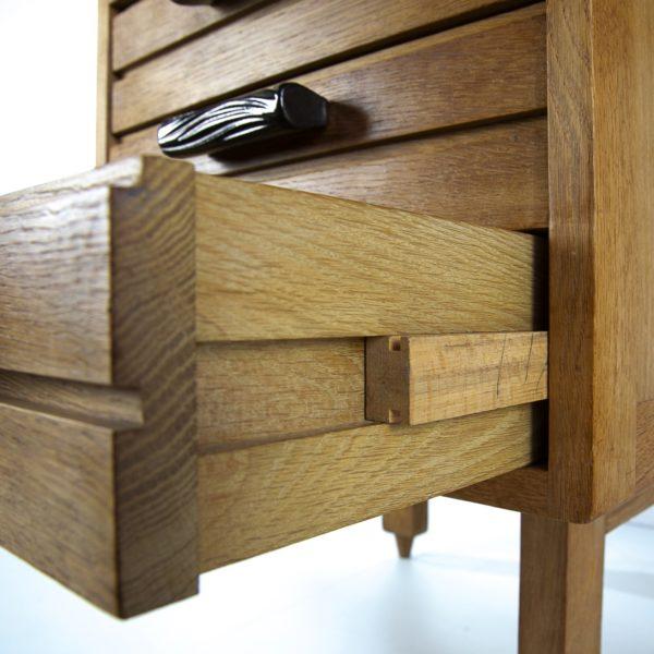 3-drawers oak desk Guillerme et Chambron Votre maison - img4