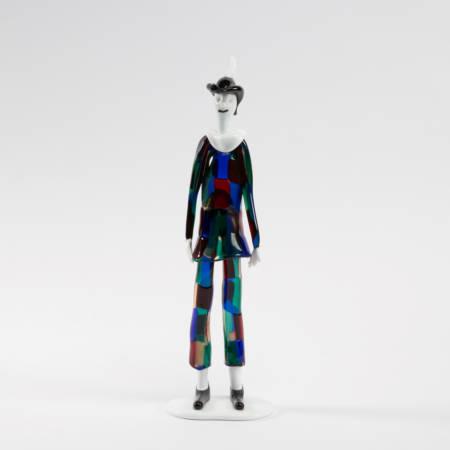 Harlequin with pezzato costume by Fulvio Bianconi - img1