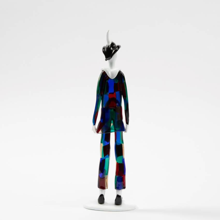 Harlequin with pezzato costume by Fulvio Bianconi - img09
