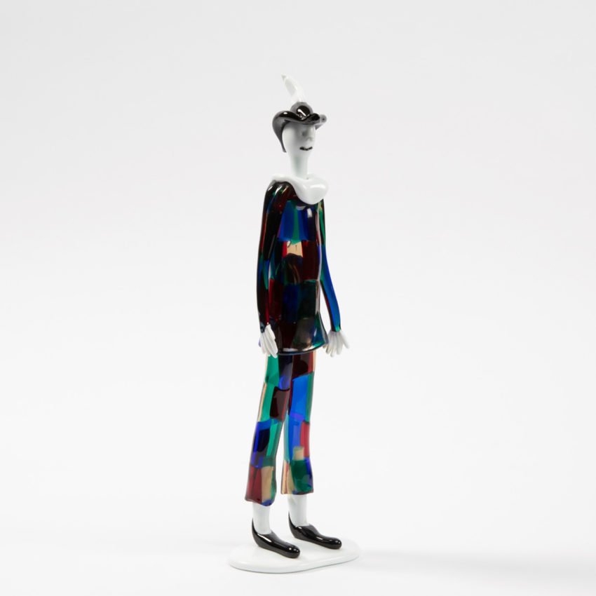 Harlequin with pezzato costume by Fulvio Bianconi - img08