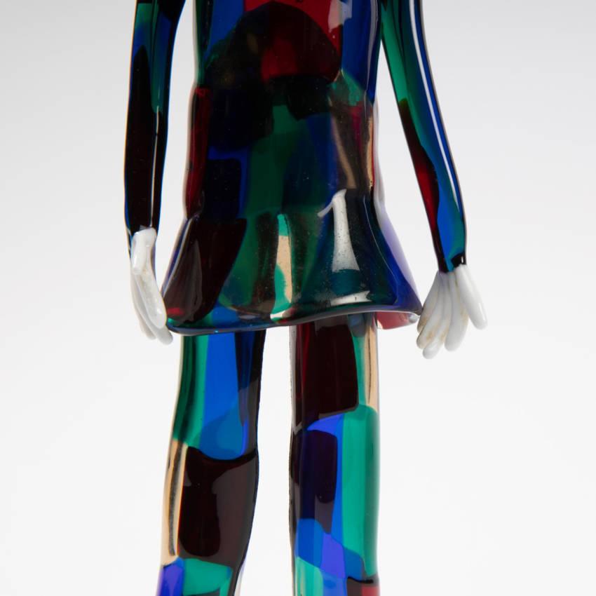 Harlequin with pezzato costume by Fulvio Bianconi - img07