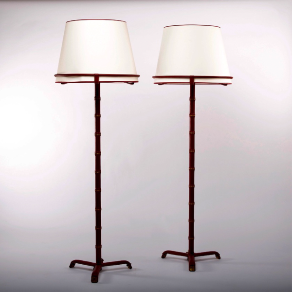 Pair of floor lamps by Jacques Adnet