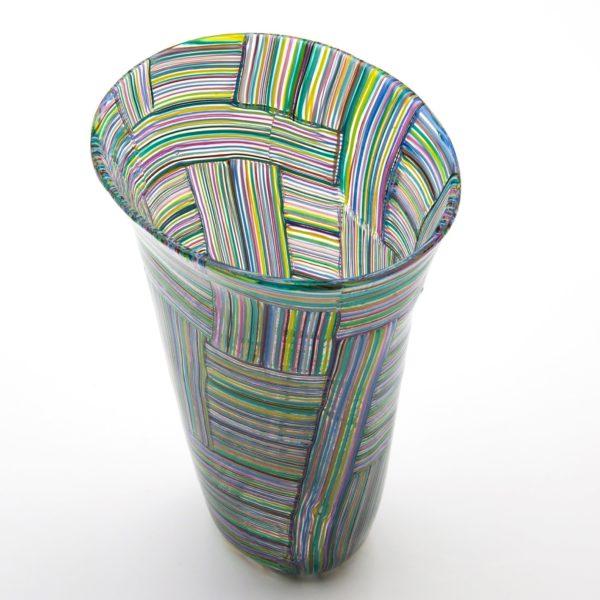 Mosaico Tessuto vase by Paolo Venini - img02