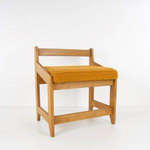 French Guillerme et Chambron oak stool - img01