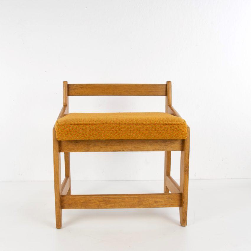 French Guillerme et Chambron oak stool - img02