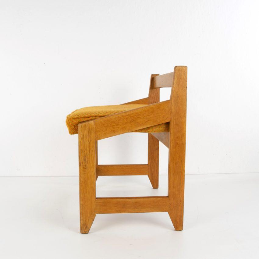 French Guillerme et Chambron oak stool - img04