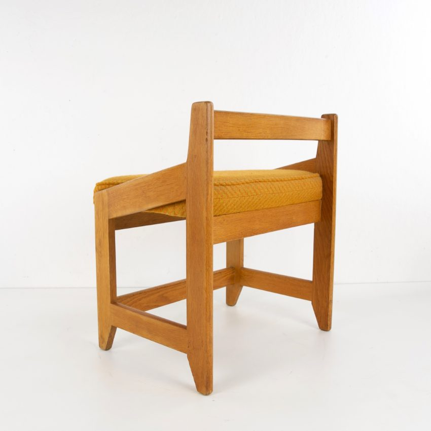 French Guillerme et Chambron oak stool - img05