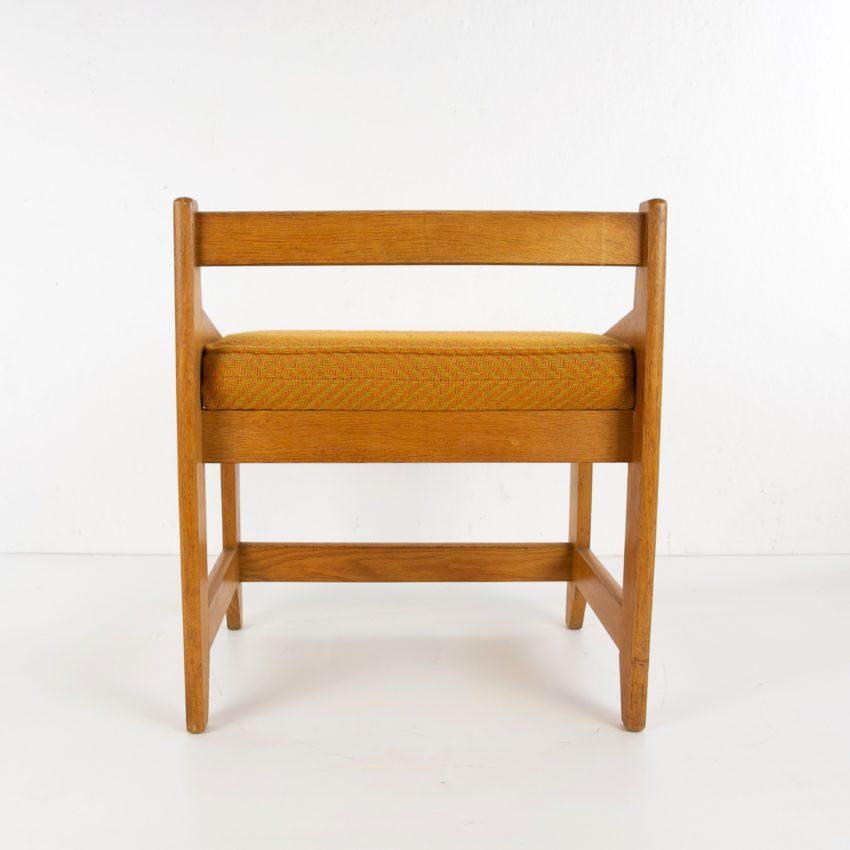 French Guillerme et Chambron oak stool - img06