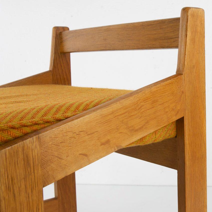 French Guillerme et Chambron oak stool - img08