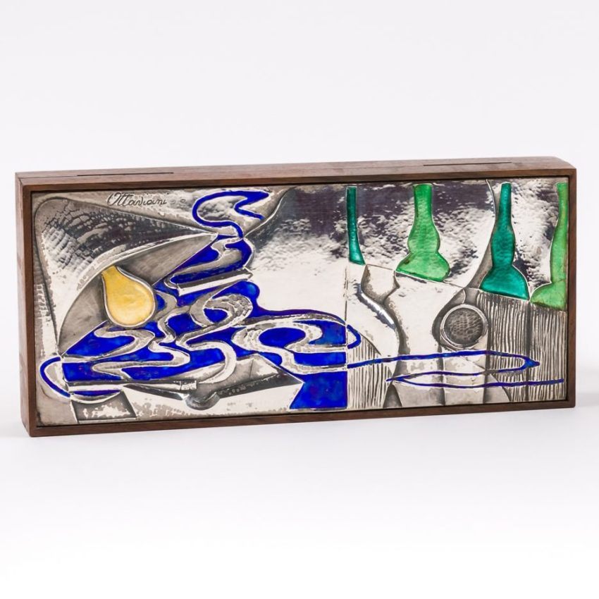 Rosewood and silver box by Ottaviani - img1