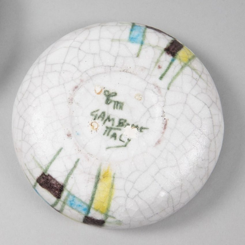 Round ceramic box by Guido Gambone - img5