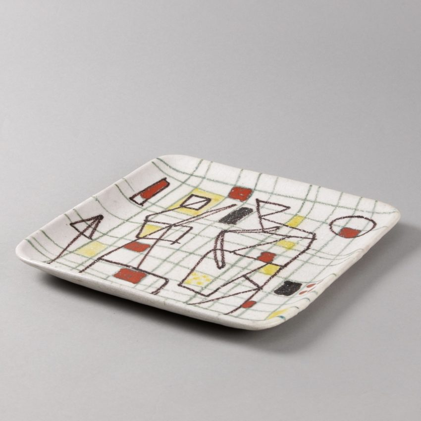 ceramic plate with abstract decor by Guido Gambione - img01