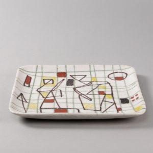 ceramic plate with abstract decor by Guido Gambione - img02