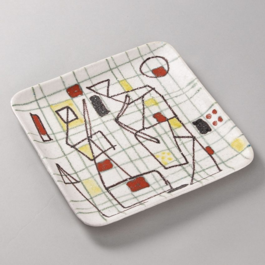 ceramic plate with abstract decor by Guido Gambione - img03