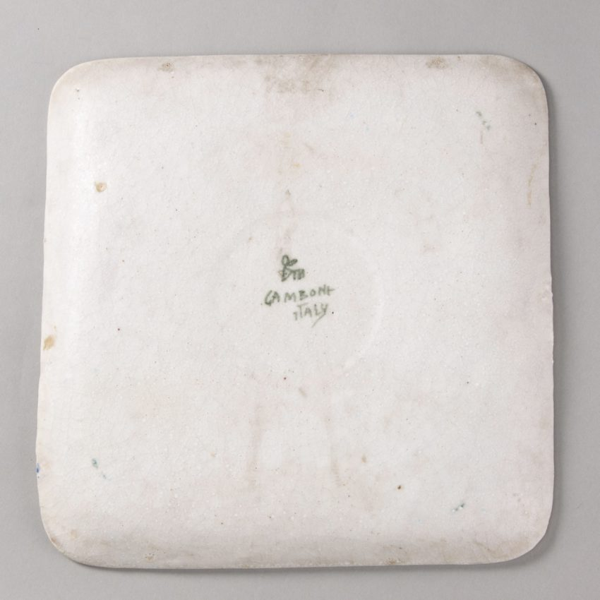 ceramic plate with abstract decor by Guido Gambione - img04