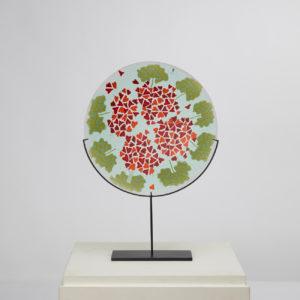 "Murrine plate ""Geranio"" by Laura de Santillana - img09"
