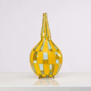 Riquadri vase Azur Yellow by Barovier e Toso - img01