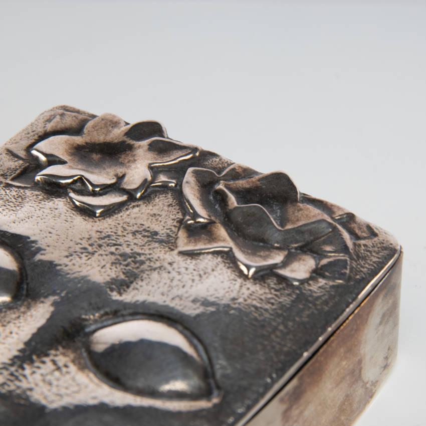 """""""Ophélie"""" silvered bronze box, Line Vautrin (France)"""