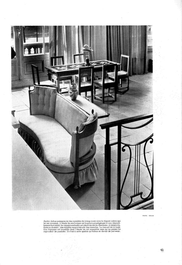 Pair of cherry wood chairs by André Arbus -img01