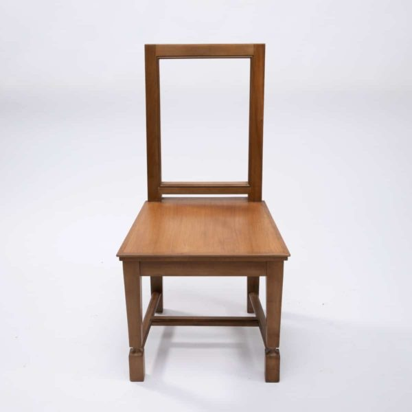 Pair of cherry wood chairs by André Arbus -img03