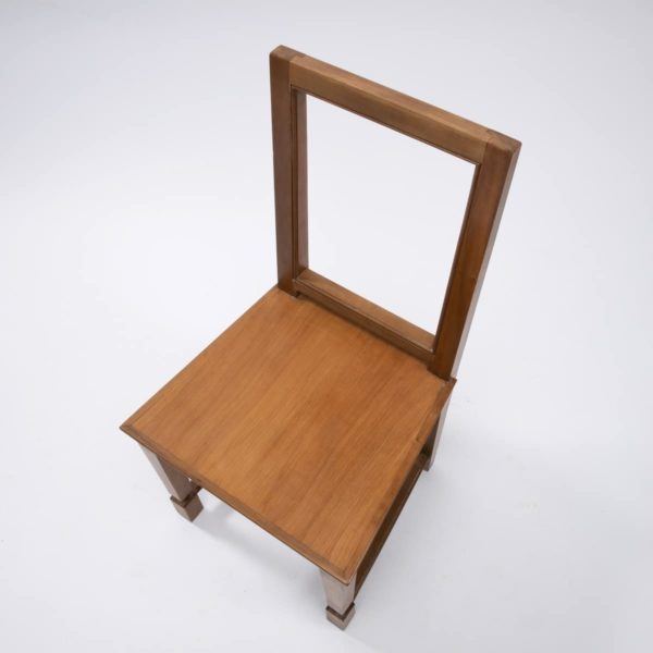 Pair of cherry wood chairs by André Arbus -img05