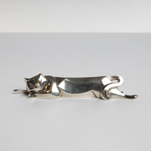 Six silver-plated knife-rests in the shape of animals by Edouard Marcel Sandoz -img13
