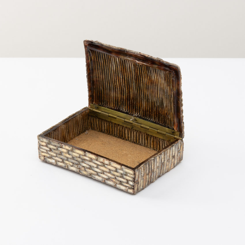 Talosel with incrusted mirrors box Line Vautrin - 3