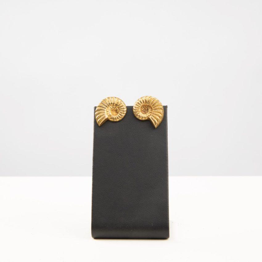 "Line Vautrin, Fr, a Pair of ""Nautile"" Gilded Bronze Earrings - 06"