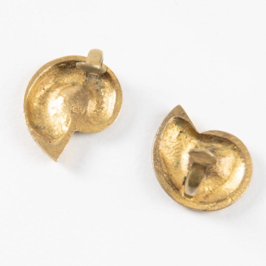 "Line Vautrin, Fr, a Pair of ""Nautile"" Gilded Bronze Earrings - 04"
