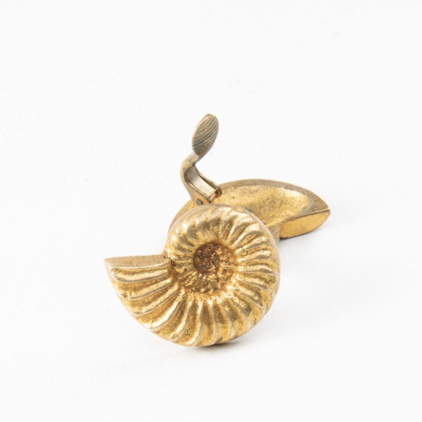 "Line Vautrin, Fr, a Pair of ""Nautile"" Gilded Bronze Earrings - 02"