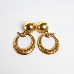 O comme oreille pair of earrings in gilded bronze Line Vautrin France - 07