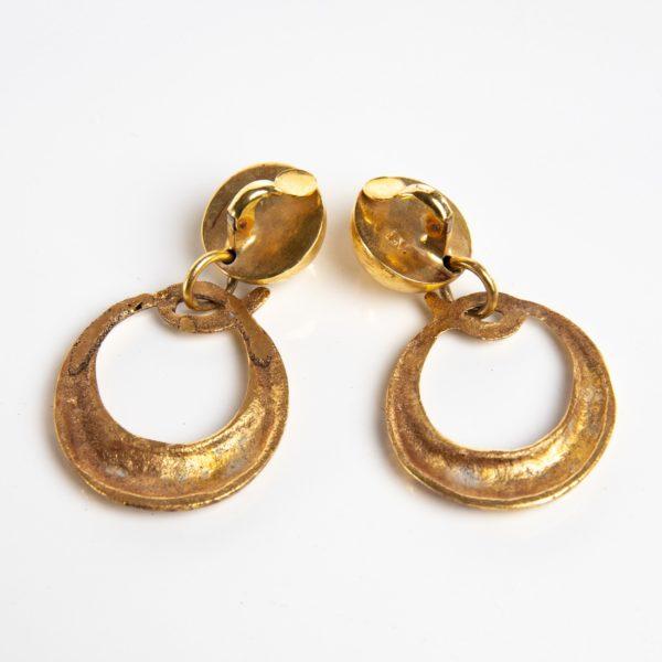 O comme oreille pair of earrings in gilded bronze Line Vautrin France - 06