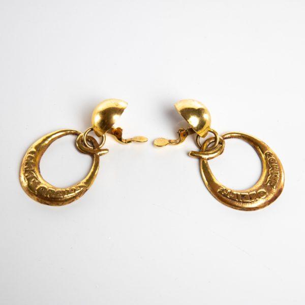O comme oreille pair of earrings in gilded bronze Line Vautrin France - 04