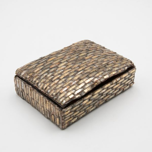 Talosel with encrusted mirrors box, Line Vautrin France - 06
