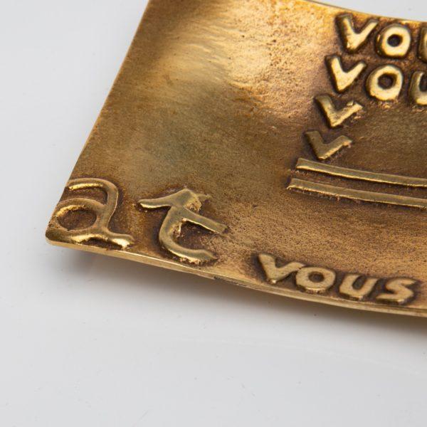 Vous vous devez de traiter Eros comme un Dieu, hâtez-vous by Line Vautrin - gilded bronze trinket bowl - France - 06