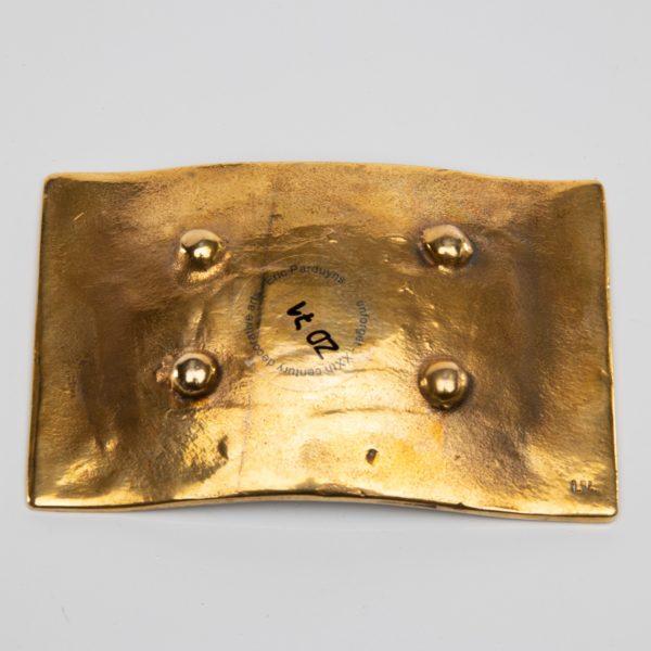Vous vous devez de traiter Eros comme un Dieu, hâtez-vous by Line Vautrin - gilded bronze trinket bowl - France - 08
